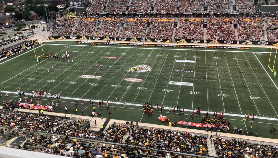 Tim Hortons Field,  Section <strong>214</strong>, Row <strong>6</strong>, Seat <strong>8</strong>