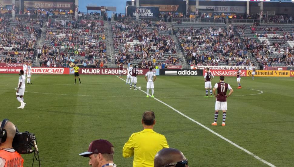Dick's Sporting Goods Park,  Section <strong>128</strong>, Row <strong>BB</strong>, Seat <strong>8</strong>