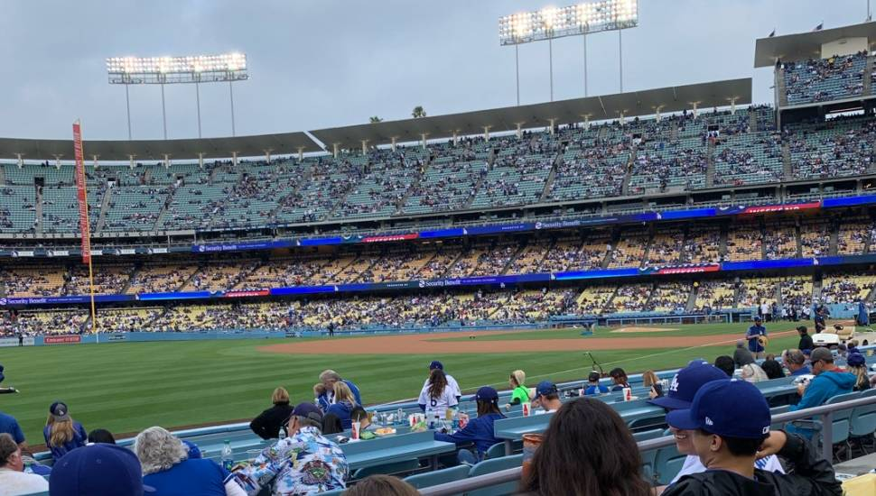 Dodger Stadium,  Section <strong>218</strong>, Row <strong>A</strong>, Seat <strong>1</strong>