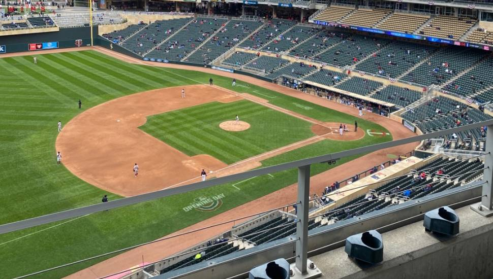 Target Field,  Section <strong>130</strong>, Row <strong>13</strong>, Seat <strong>1</strong>