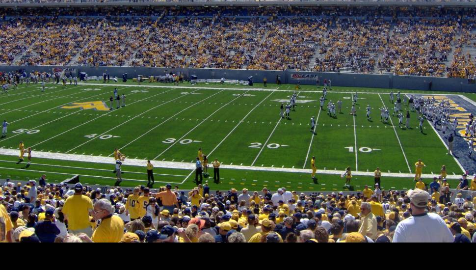 Mountaineer Field,  Section <strong>Lawn</strong>