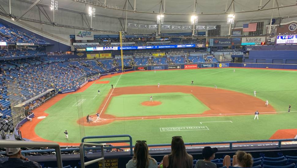Tropicana Field,  Section <strong>323</strong>, Row <strong>X</strong>, Seat <strong>20</strong>
