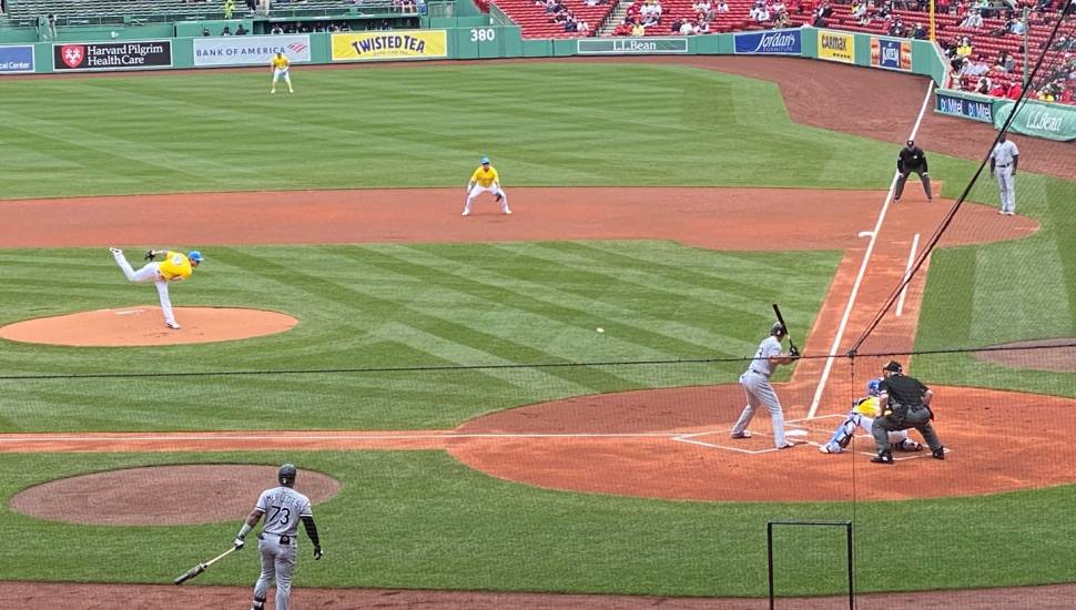 Fenway Park,  Section <strong>208</strong>, Row <strong>5</strong>, Seat <strong>13</strong>