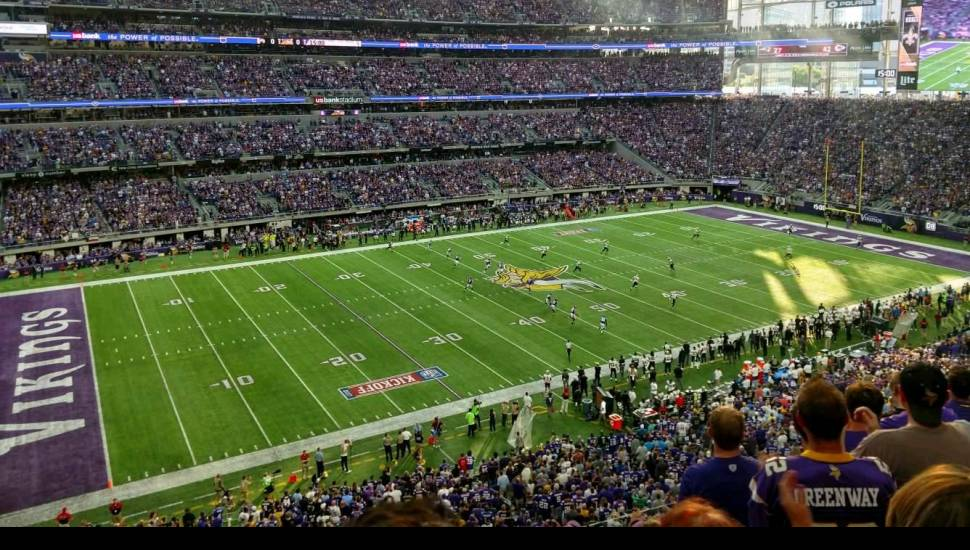 U.S. Bank Stadium,  Section <strong>322</strong>, Row <strong>3</strong>, Seat <strong>14</strong>