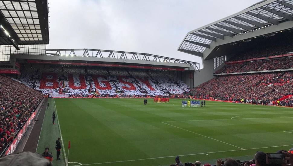 Anfield,  Section <strong>Mezz</strong>, Row <strong>A</strong>, Seat <strong>109</strong>