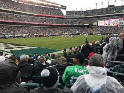 Lincoln Financial Field, section: 134, row: 11, seat: 9