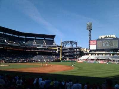 PNC Park, section: 105, row: a, seat: 5