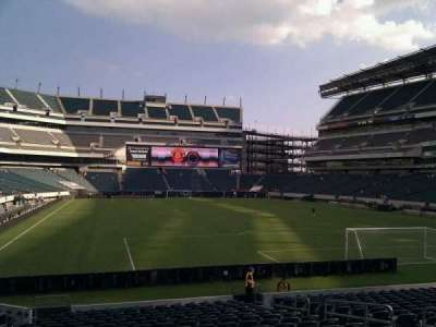 Lincoln Financial Field, section: 128, row: 18, seat: 10