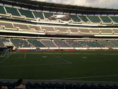 Lincoln Financial Field, section: 135, row: 10, seat: 8