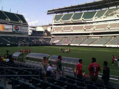 Lincoln Financial Field, section: 103, row: 8, seat: 10
