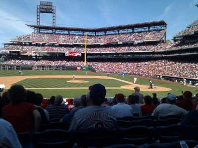 Citizens Bank Park, section: 130, row: 20, seat: 12