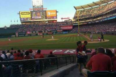 Angel Stadium, section: F114, row: H, seat: 1