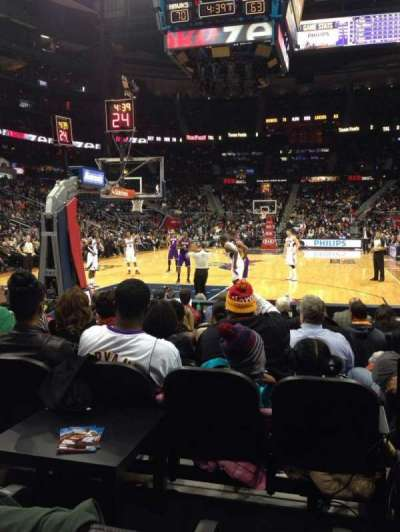 Philips Arena, section: 120, row: hh, seat: 3