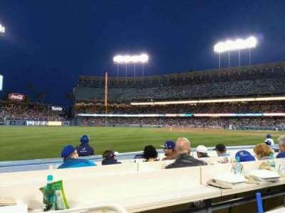 Dodger Stadium, section: Baseline 43, row: 6