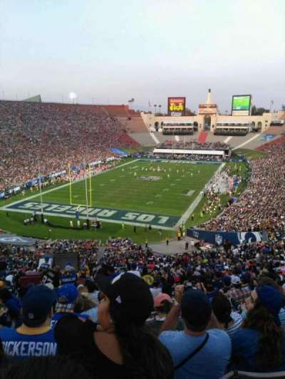 Los Angeles Memorial Coliseum, section: 13H, row: 73, seat: 101