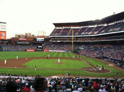 Turner Field, section: 208L, row: 1, seat: 101