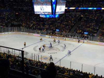Bridgestone Arena, section: 212, row: F, seat: 14