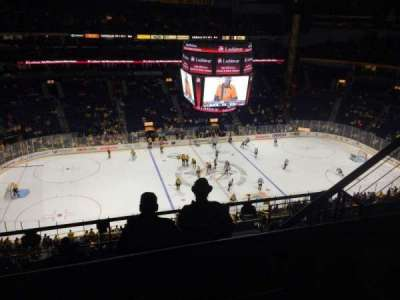 Bridgestone Arena, section: 308, row: G, seat: 3-4