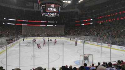 Prudential Center, section: 1e, row: 9, seat: 8