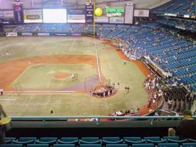 Tropicana Field, section: 307, row: J, seat: 7