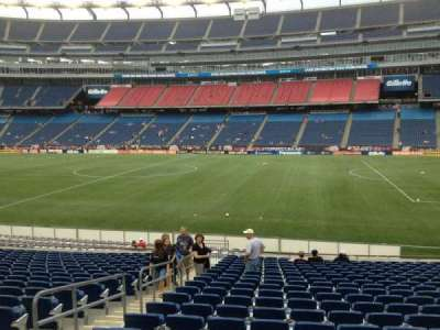 Gillette Stadium, section: 128, row: 20, seat: 18
