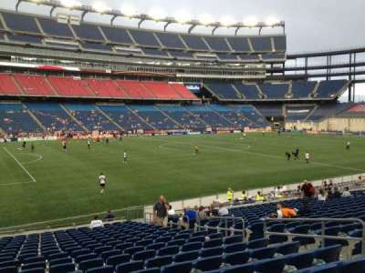 Gillette Stadium, section: 135, row: 20, seat: 9