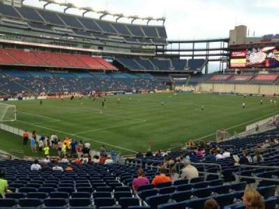 Gillette Stadium, section: 138, row: 24, seat: 10