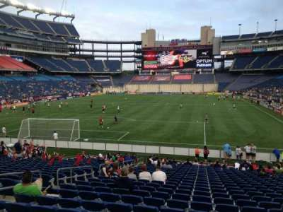 Gillette Stadium, section: 141, row: 24, seat: 13