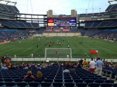 Gillette Stadium, section: 143, row: 24, seat: 6
