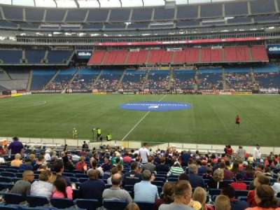 Gillette Stadium, section: 109, row: 24, seat: 7