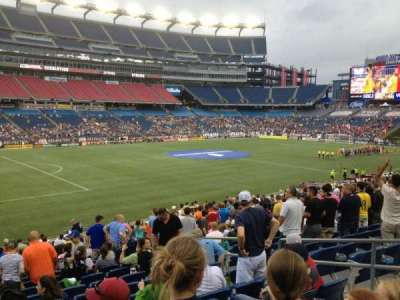 Gillette Stadium, section: 114, row: 24, seat: 7