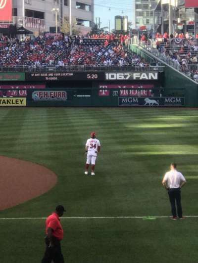 Nationals Park, section: 131, row: F, seat: 10