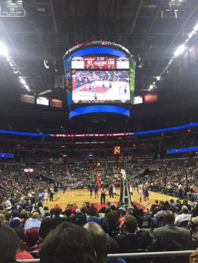 Verizon Center, section: 105, row: C, seat: 7