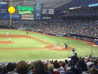 Tropicana Field, section: 113, row: GG, seat: 1
