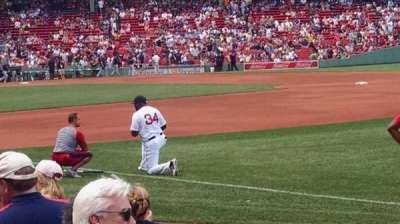 Fenway Park, section: Field Box 10, row: F, seat: 1