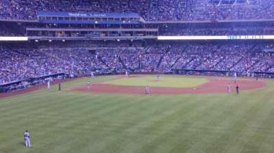 Kauffman Stadium, section: Outfield terrace