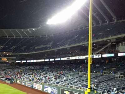 Kauffman Stadium, section: 104, row: a, seat: 11
