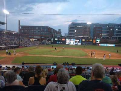 Durham Bulls Athletic Park, section: 208, row: Q, seat: 12