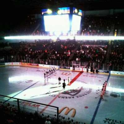Citizens Business Bank Arena, section: 215, row: G, seat: 4