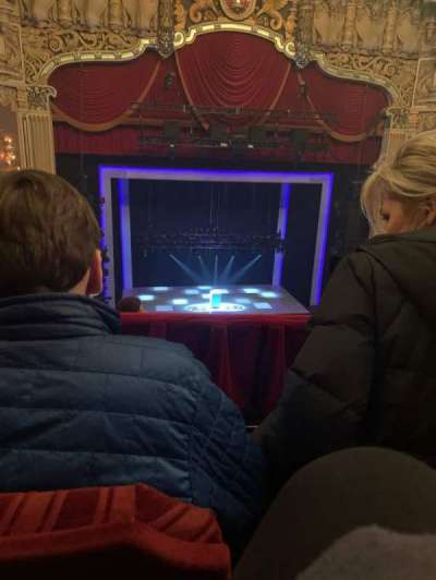 James M. Nederlander Theatre, section: Balcony LC, row: F, seat: 327