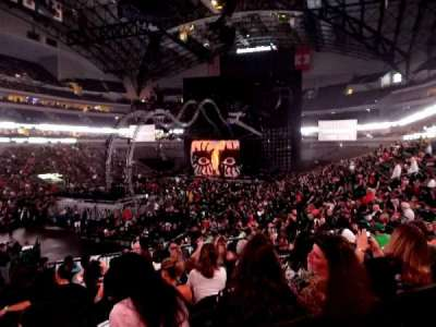 American Airlines Center, section: 110, row: X, seat: 20