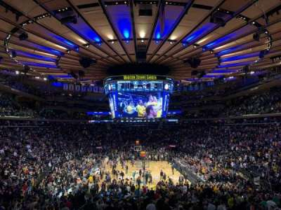 Madison Square Garden, section: 112, row: 19, seat: 10