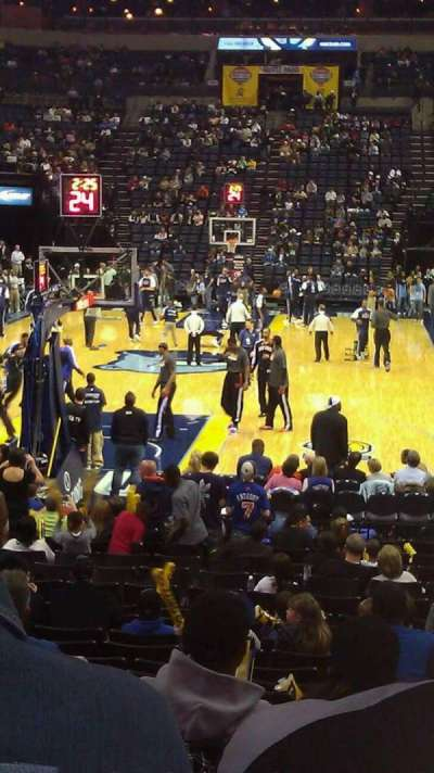 FedEx Forum, section: 110, row: T, seat: 10