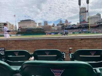Comerica Park, section: 129, row: Row 3/C, seat: 6