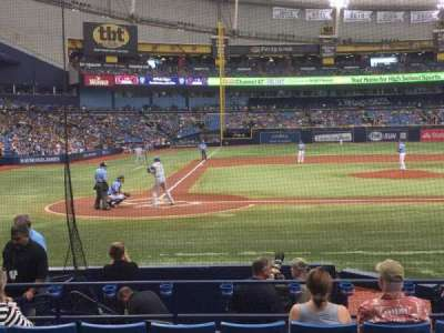 Tropicana Field, section: 110, row: N, seat: 5