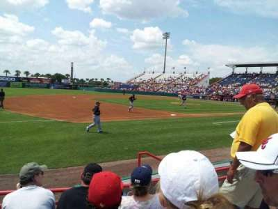 Space Coast Stadium, section: 103, row: 4, seat: 5