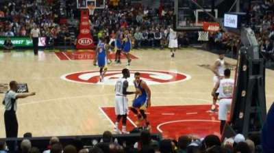 Philips Arena, section: 110, row: B, seat: 9