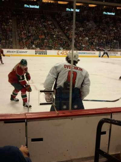 Xcel Energy Center, section: 119, row: 2, seat: 1