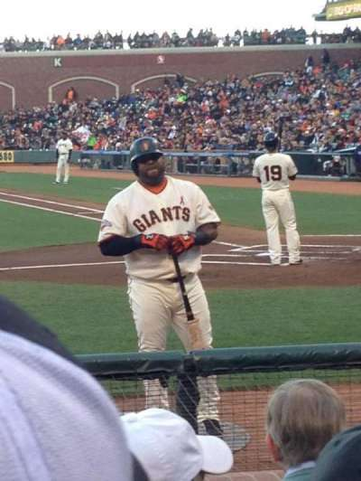 AT&T Park section PFC 121
