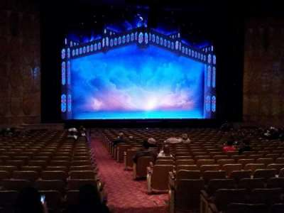 Fisher Theatre, section: Main Floor Left, row: Y, seat: 1